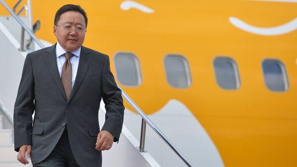 Прилёт в Уфу Президента Республики Монголия Цахиагийна Элбэгдоржа