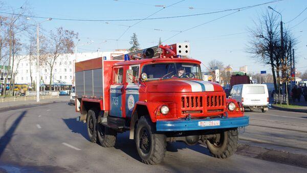 Пожарная машина, Белоруссия. Архивное фото