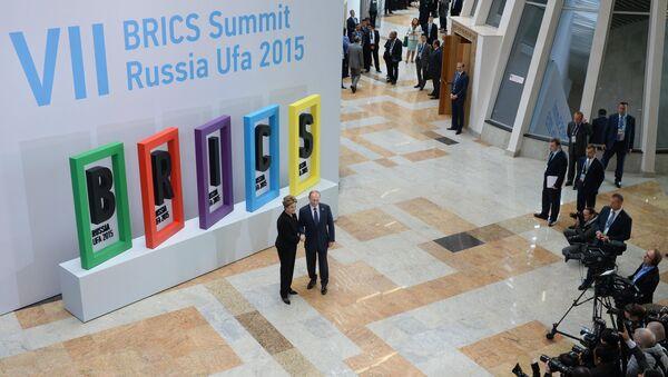 Президент Российской Федерации Владимир Путин и Президент Федеративной Республики Бразилия Дилма Руссефф