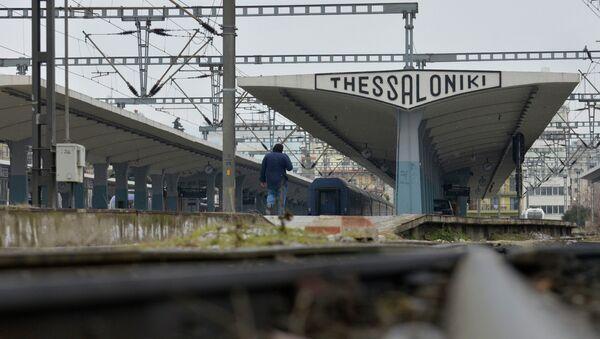 Железнодорожная станция в Греции. Архивное фото
