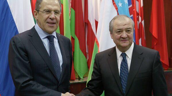 Переговоры С.Лаврова и А.Камилова в Ташкенте