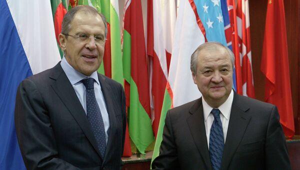 Министр иностранных дел РФ Сергей Лавров и министр иностранных дел Узбекистана Абдулазиз Камилов. Архивное фото