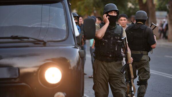 Военнослужащие спецназа в Бишкеке. Архивное фото