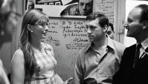 Актриса Марина Влади и артист Владимир Высоцкий. Архивное фото