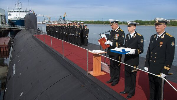 Первая многоцелевая атомная подлодка проекта Ясень принята в состав ВМФ России