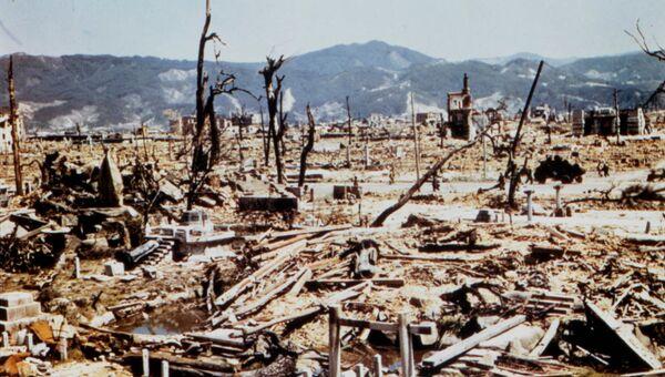 Последствия атомной бомбардировки Хиросимы. 1945