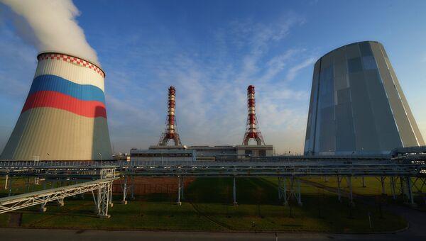 Первая в России электростанция с парогазовым бинарным циклом. Архивное фото