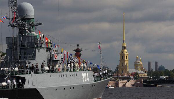 Генeральная репетиция парада ко Дню ВМФ в Санкт-Петербурге