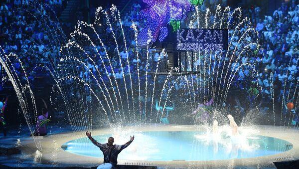 Церемония открытия XVI чемпионата мира по водным видам спорта. Архивное фото.