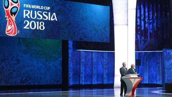 Президент РФ Владимир Путин принял участие в церемонии предварительной жеребьевки ЧМ-2018