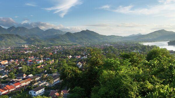 Вид на Луанг-Прабанг, Лаос