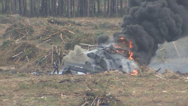 Второй пилот сам вышел из горящего вертолета после крушения под Рязанью