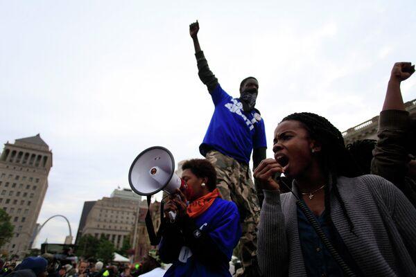 Протест в городе Сент-Луис, США