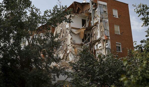 Обрушившийся дом в Мадриде