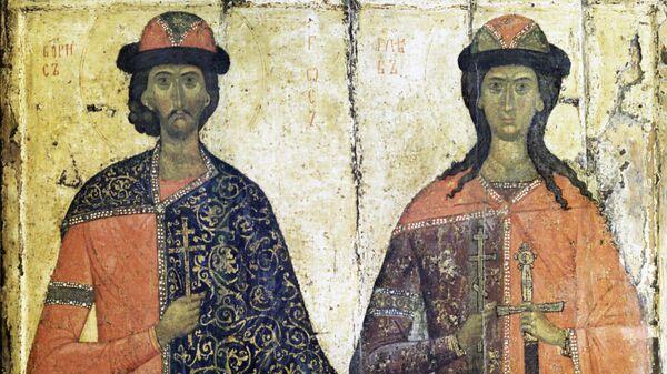 Репродукция иконы Борис и Глеб