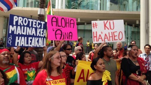 Местные жители протестуют против постройки 30-метрового телескопа на Гавайях