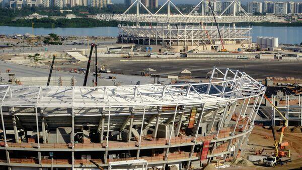 Вид на строящиеся объекты Олимпийских игр 2016 в Рио-де-Жанейро