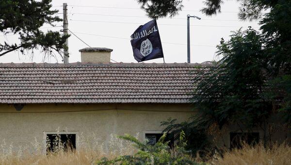 Позиция боевиков ИГ на территории Сирии, граничащей с Турцией