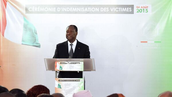 Президент Кот-д'Ивуара Алассан Уаттара. Архивное фото