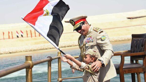 Президент Египта Абдель Фаттах аль-Сиси на открытии нового русла Суэцкого канала