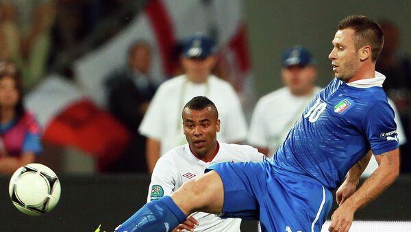 Игрок сборной Италии Антонио Кассано. Архивное фото