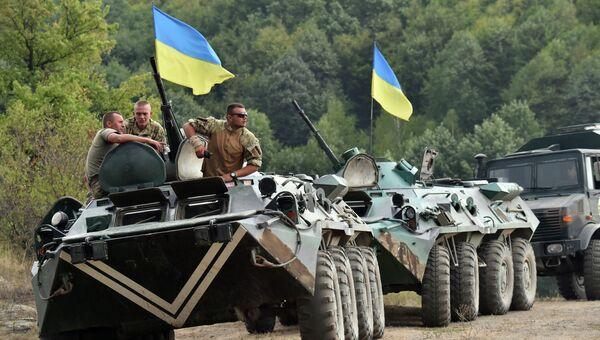 Учения украинских военнослужащих