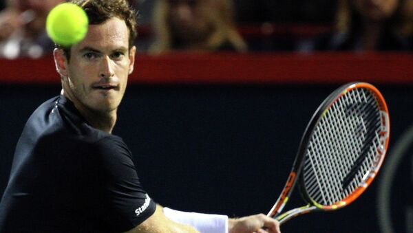 Британский теннисист Энди Маррей в игре с испанцем Томми Робредо