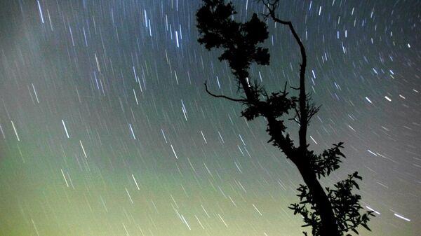 Вид на ночное небо в Московской области