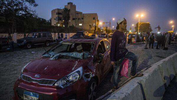 На месте взрыва недалеко от управления сил безопасности Египта и здания суда в пригороде Каира