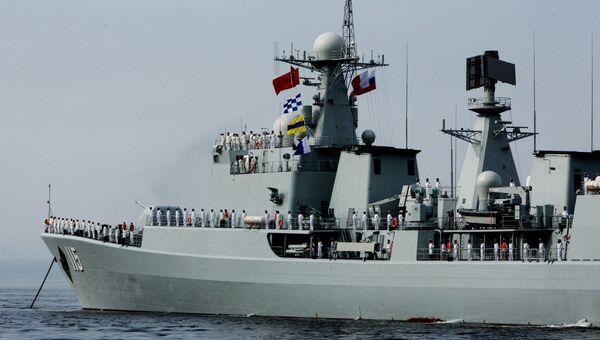 Эсминец Шеньян, прибывший для участия во втором этапе учений Морское взаимодействие - 2015