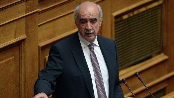 Греческий политик Вангелис Меймаракис. Архивное фото