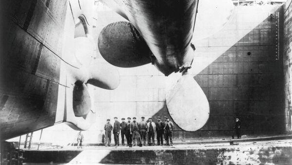 Винты Олимпика идентичные винтам Титаника во время строительства