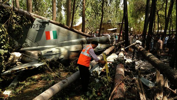 Истребитель МиГ-21 индийских ВВС потерпел крушение в штате Джамму и Кашмир. 24 августа 2015