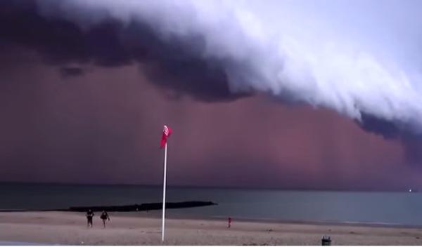 Страшновато: шторм в Бельгии