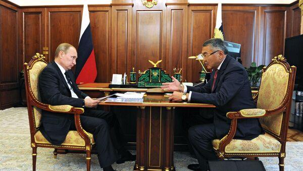 Президент РФ В.Путин встретился с главой Республики Калмыкия А.Орловым