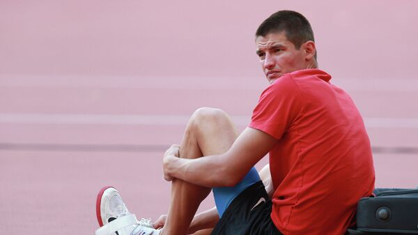 Илья Шкуренев (Россия) на чемпионате мира 2015 по легкой атлетике в Пекине