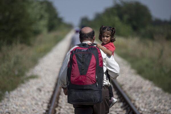 Беженцы на пути из Сербии в Венгрию. 31 августа 2015