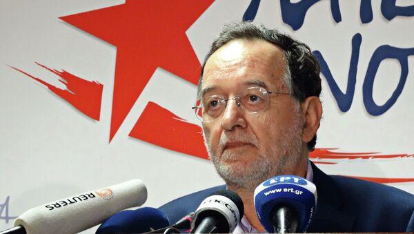 Лидер левого крыла партии СИРИЗА Панайотис Лафазанис. Архивное фото