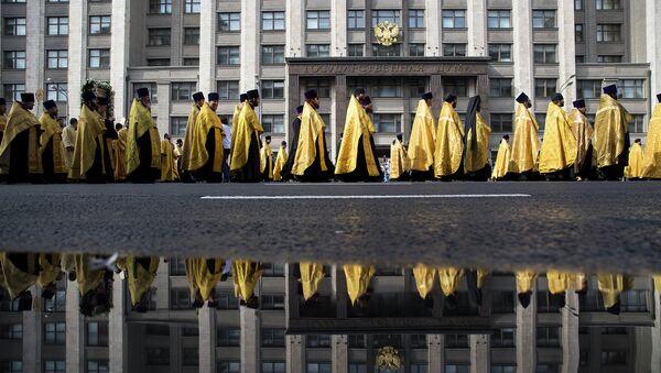 Крестный ход по исторической Петровской дороге от московского Кремля к древнему Высоко-Петровскому монастырю