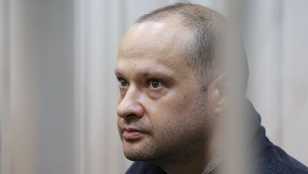 Заместитель главы Республики Коми Алексей Чернов в Басманном суде Москвы. Архивное фото