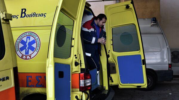 Работа греческой службы скорой помощи. Архивное фото