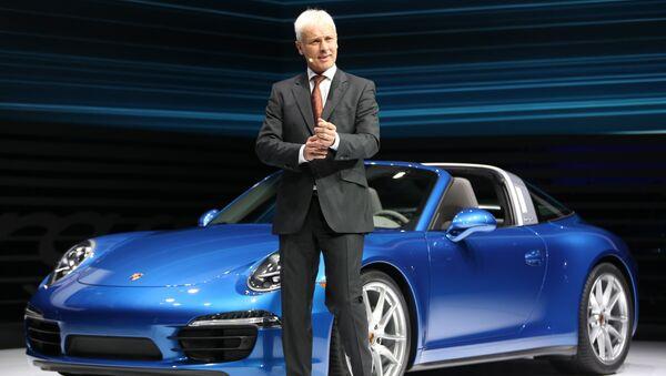 Глава Porsche Маттиас Мюллер, архивное фото