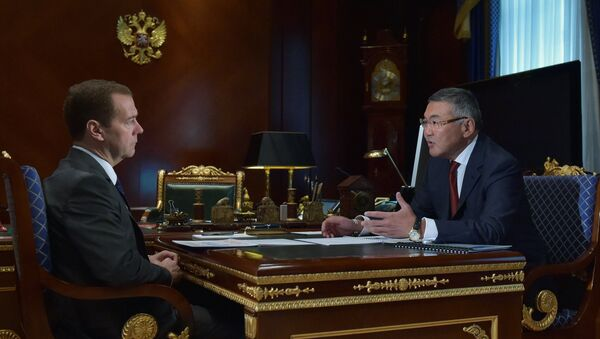 Премьер-министр РФ Д.Медведев встретился с главой Республики Калмыкия А.Орловым