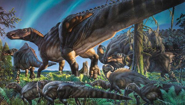 Так художник представил себе зимующего динозавра Ugrunaaluk kuukpikensis