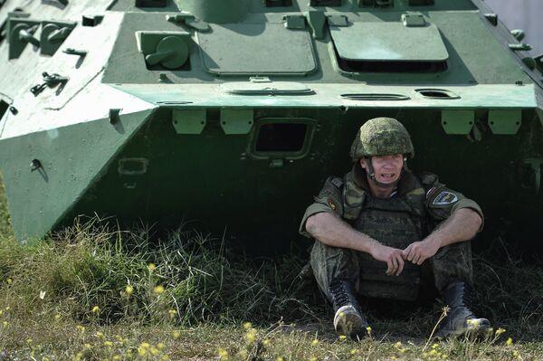 Участник ежегодного армейского проекта Вежливые люди. Бархатный сезон
