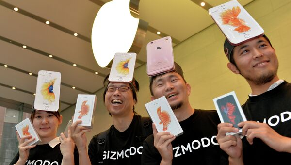Начало продаж нового iphone в Японии