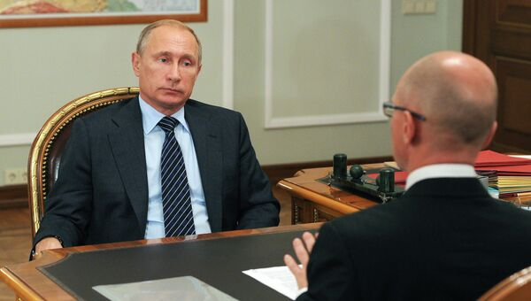 Рабочая встреча президента России В.Путина с главой госкорпорации Росатом С.Кириенко