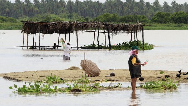 Последствия тропического шторма Марти в Акапулько. Мексика