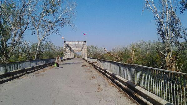Мост через р. Северский Донецк на КПП возле Станицы Луганской