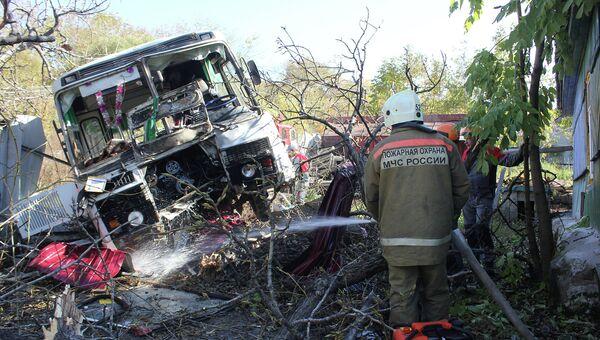 Ликвидация последствий ДТП с участием автобуса с детьми под Хабаровском